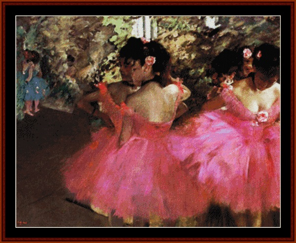 click here to view larger image of Dancers In Pink (chart)