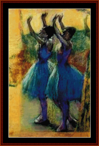 click here to view larger image of Two Blue Dancers (chart)
