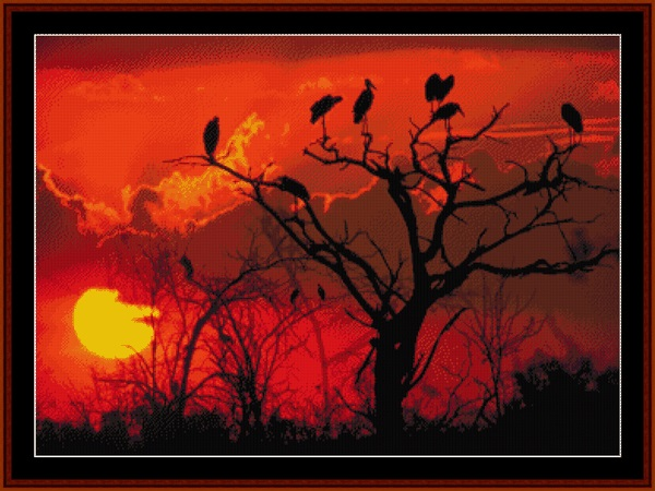 click here to view larger image of Botswana Sunset (chart)