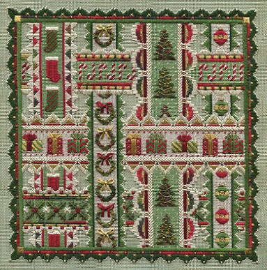 click here to view larger image of Holiday Ribbons (Includes Embellishments) (counted canvas chart)