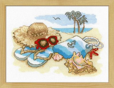 click here to view larger image of Holiday By The Sea (counted cross stitch kit)