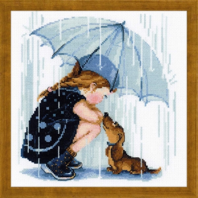 click here to view larger image of Under My Umbrella (counted cross stitch kit)