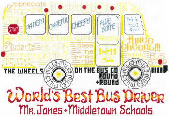 click here to view larger image of Lets Cheer for the Bus Driver (chart)