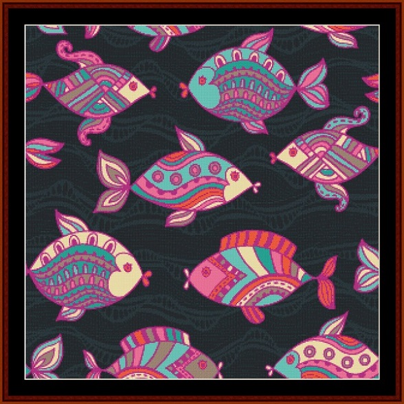 click here to view larger image of Abstract Fish I (chart)