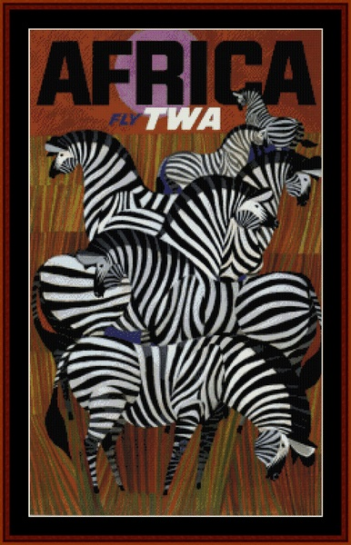 click here to view larger image of Fly TWA Africa - Vintage Poster (chart)