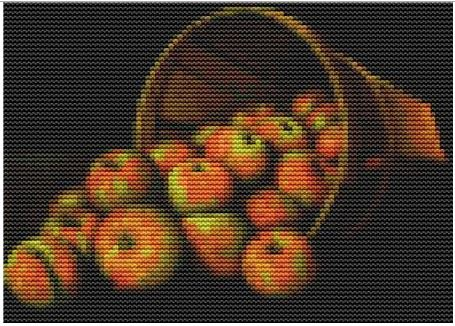 click here to view larger image of Basket of Apples  (Mini Chart) (chart)