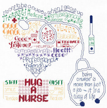 click here to view larger image of Lets Hug A Nurse (chart)