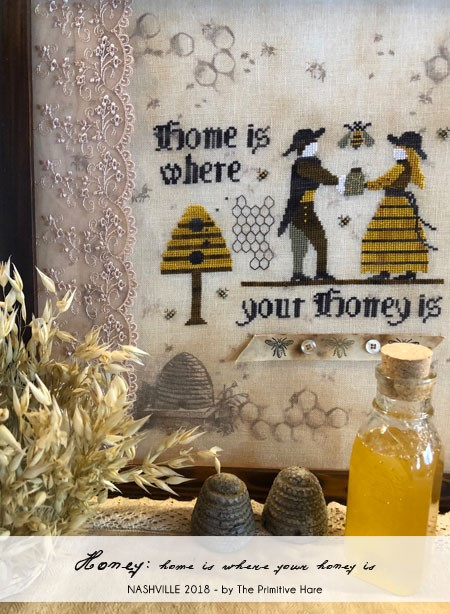 click here to view larger image of Honey  Home Is Where Your Honey Is (Chartpack) (chart with charms/buttons)