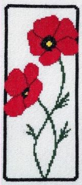 click here to view larger image of Poppies in a Frame (chart)