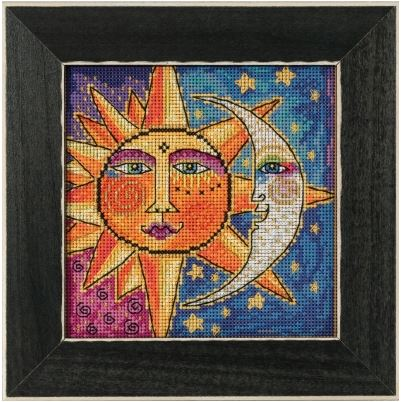 click here to view larger image of Sister Sun, Brother Moon (counted cross stitch kit)