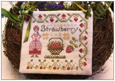 click here to view larger image of Dinah's Garden - Strawberry (chart)