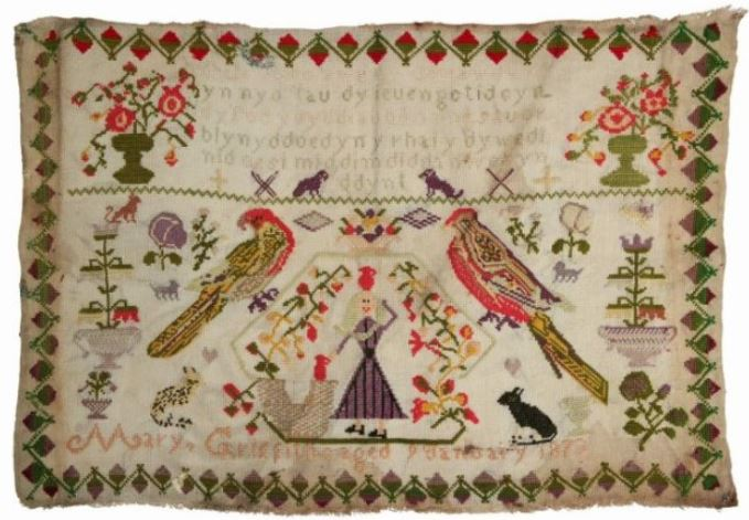 click here to view larger image of Mary Griffith 1873 - A Welsh Sampler (chart)