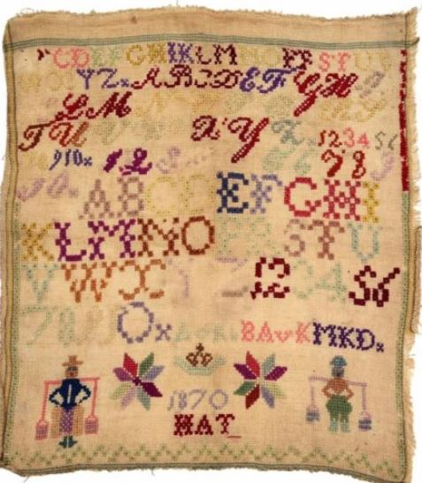 click here to view larger image of Little Dutch Sampler 2, 1870 (chart)