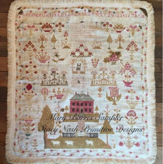 click here to view larger image of Mary Barres Reproduction Sampler (chart)