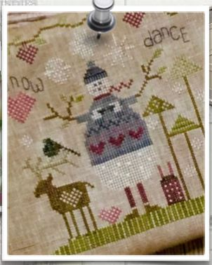 click here to view larger image of Chocolate Snowman (counted cross stitch kit)