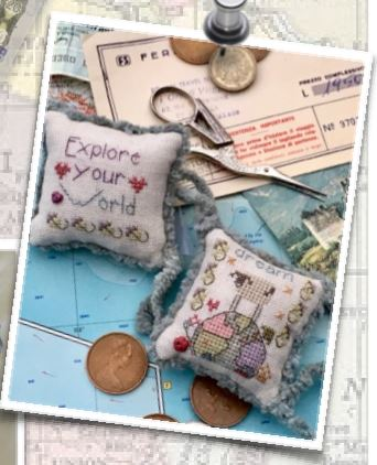 click here to view larger image of Explore Your World Fob Kit (counted cross stitch kit)