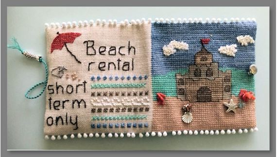click here to view larger image of Beach House Needle Case (counted cross stitch kit)