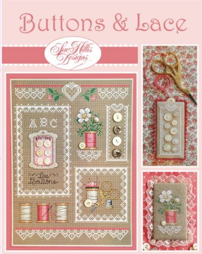 click here to view larger image of Buttons and Lace (chart)