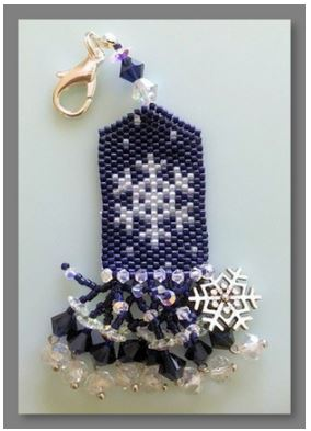 click here to view larger image of Carol's Snowflake Fob (counted cross stitch kit)