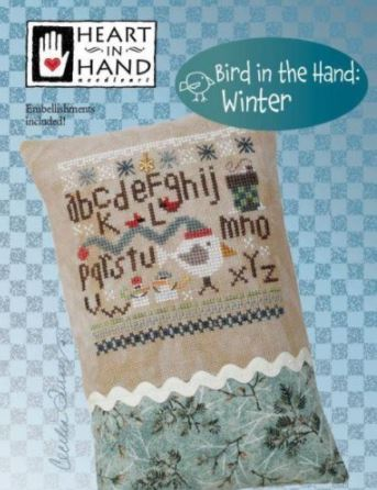 click here to view larger image of Bird In The Hand - Winter (chart with charms/buttons)