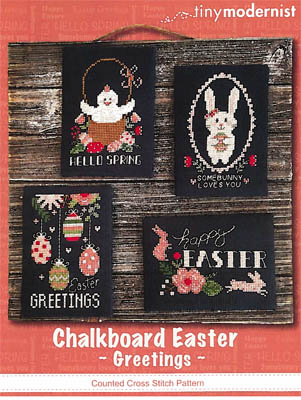 click here to view larger image of Chalkboard Easter Greetings (4 designs) (chart)