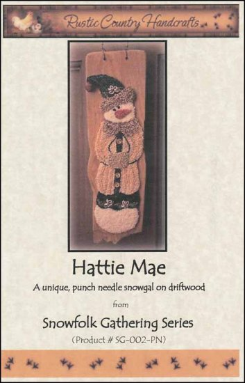click here to view larger image of Hattie Mae (Punchneedle)