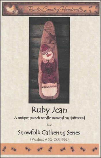 click here to view larger image of Ruby Jean (Punchneedle)