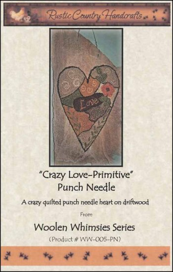 click here to view larger image of Crazy Love Primitive (Punchneedle)