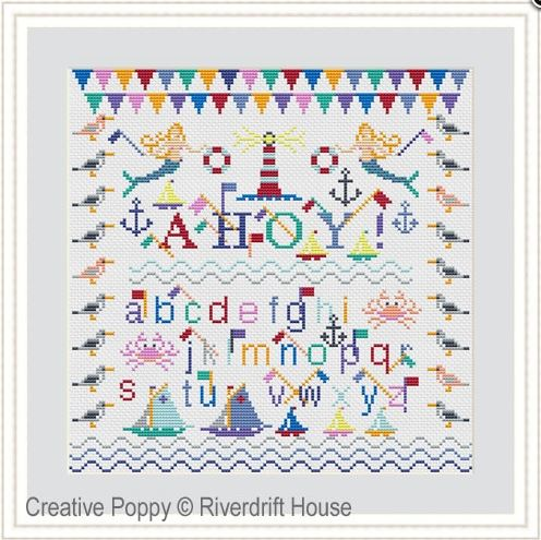 click here to view larger image of Ahoy (counted cross stitch kit)