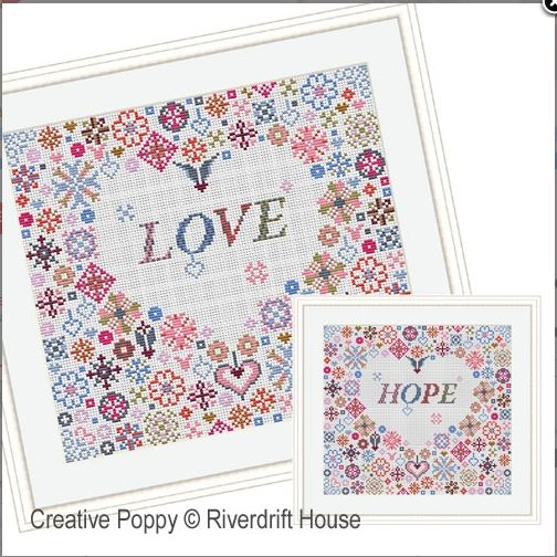 click here to view larger image of Love Heart (counted cross stitch kit)