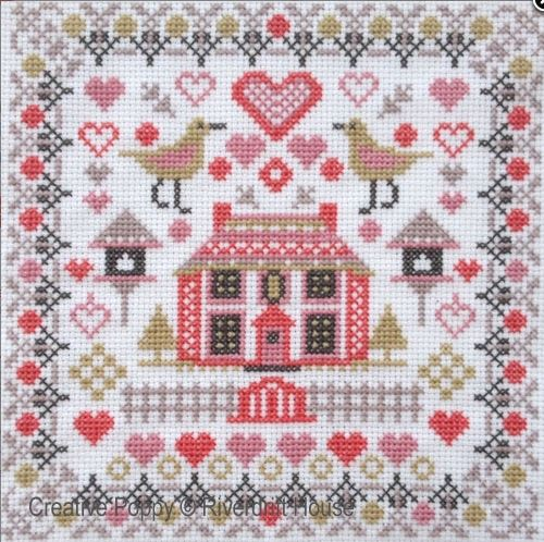 click here to view larger image of Mini House and Birds (counted cross stitch kit)