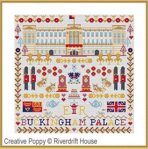 click here to view larger image of Buckingham Palace Sampler (counted cross stitch kit)