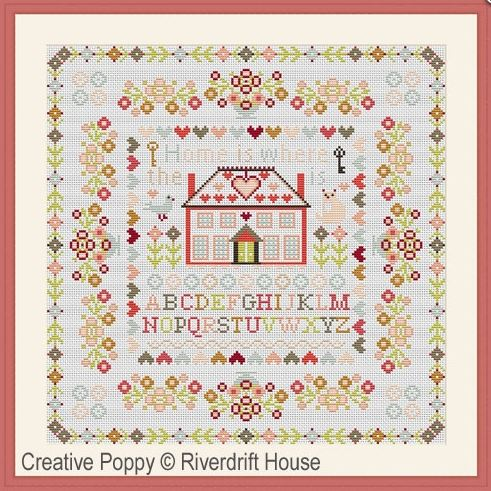 click here to view larger image of Home is Where the Heart Is (counted cross stitch kit)