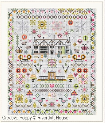 click here to view larger image of Paradise Found Sampler (counted cross stitch kit)
