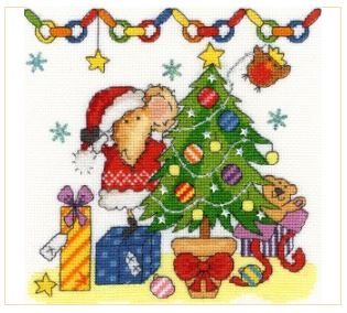 click here to view larger image of Christmas Mouse (counted cross stitch kit)