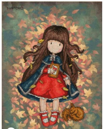 click here to view larger image of Autumn Leaves (counted cross stitch kit)
