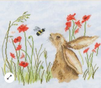 click here to view larger image of Bee Lovely (counted cross stitch kit)