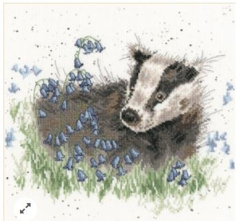 click here to view larger image of Bluebell Wood (counted cross stitch kit)