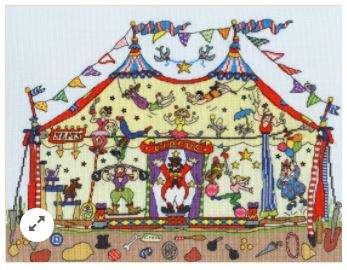 click here to view larger image of Cut Thru Big Top (counted cross stitch kit)