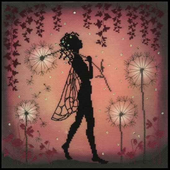 click here to view larger image of Dandelion Fairy (counted cross stitch kit)