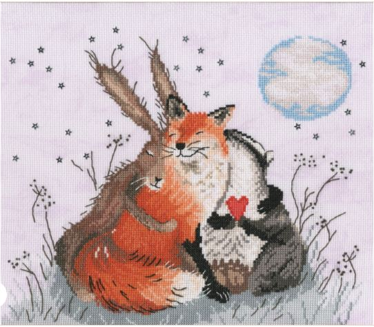 click here to view larger image of Peace and Huggles (counted cross stitch kit)