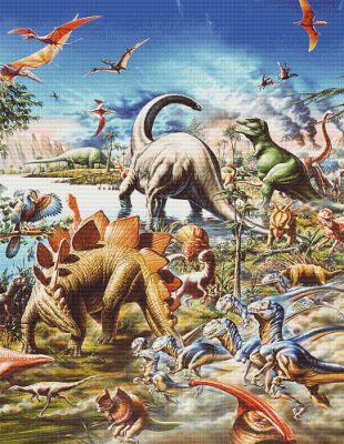click here to view larger image of Dinosaur Montage (Adrian Chester) (chart)
