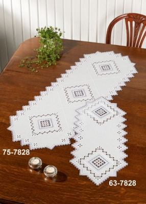 click here to view larger image of Grey Hardanger - Table Runner (left) (counted cross stitch kit)