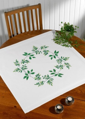 click here to view larger image of Leafs Table Topper (bottom) (counted cross stitch kit)