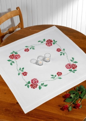 click here to view larger image of Roses Table Topper (None Selected)