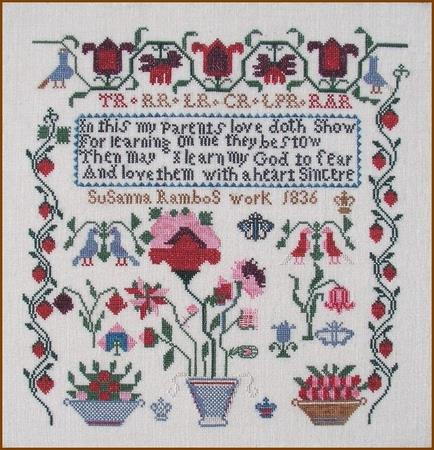 click here to view larger image of Susanna Rambo 1836 Sampler (chart)