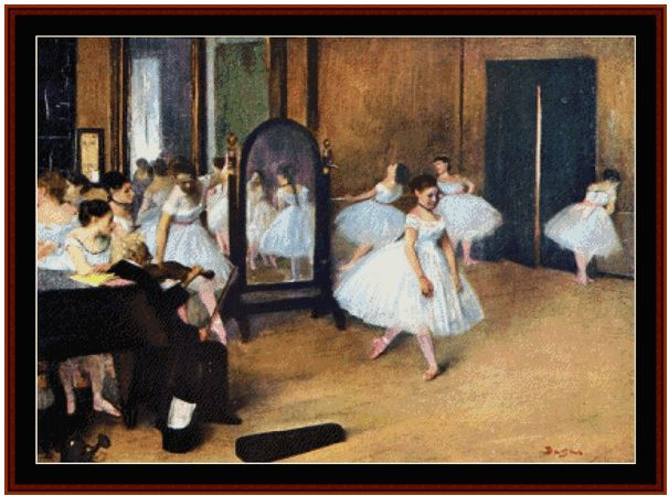 click here to view larger image of Dance Class 1871 (Degas) (chart)