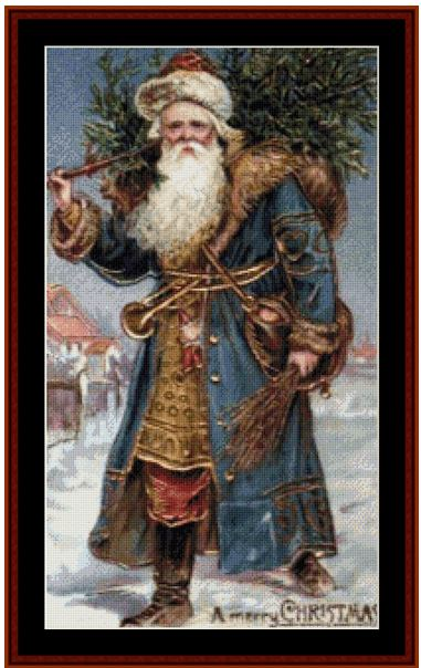 click here to view larger image of Santa with Tree (chart)