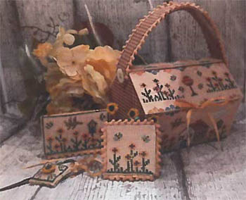 click here to view larger image of Flowers Cottage Sewing Basket (chart)