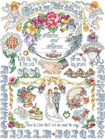 click here to view larger image of Our Wedding Sampler (chart)